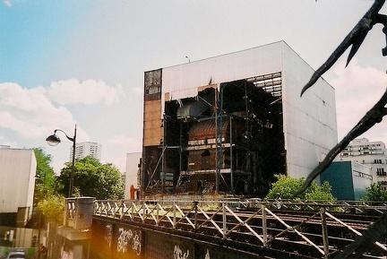 L'usine de chauffage urbain... en cours de destruction